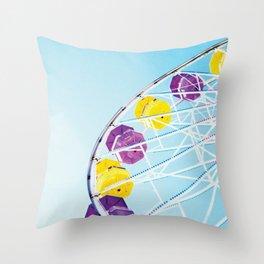 Vintage Santa Monica Ferris Wheel Throw Pillow