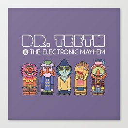 Dr. Teeth & The Electric Mayhem – The Muppets Canvas Print