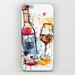 The Wine Glass and Bottle iPhone Skin