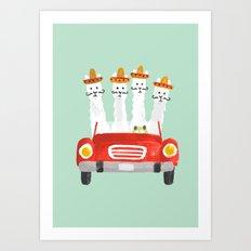 The four amigos Art Print