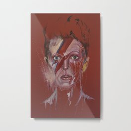 Portrait of Bowie Metal Print