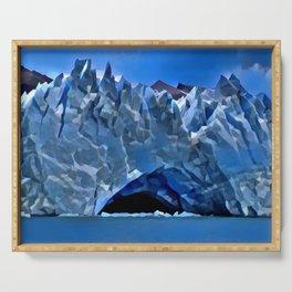 Perito Moreno Glacier Valhalla Entrance Condensed Glacial Castle Serving Tray