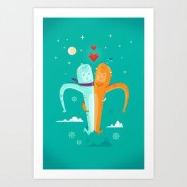 :::Moon Love::: Art Print