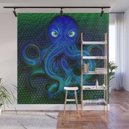 Mister Moody Blue Octopus Wall Mural