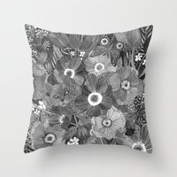 oana befort Throw Pillows featuring Kitty Undercover by Oana Befort