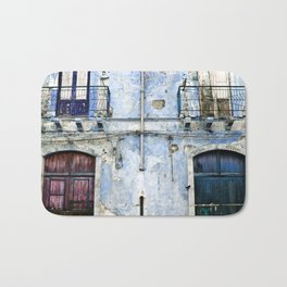 BLUE FACADE of SICILY Bath Mat