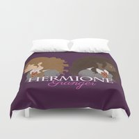hermione Duvet Covers featuring Hermione Granger by HappyQiwi