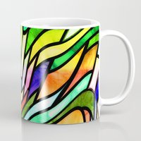 stained glass Mugs featuring Stained glass by haroulita