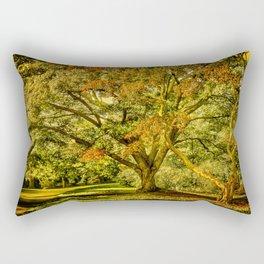 When summer meet the fall. Rectangular Pillow
