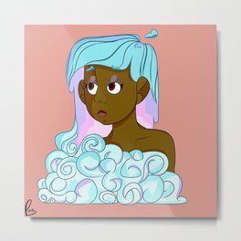 There's a girl in that cloud Metal Print