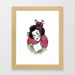 Decora Geisha Framed Art Print