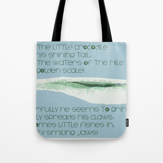 How Doth the Little Crocodile Tote Bag