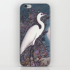 Egret in the Moonlight iPhone & iPod Skin