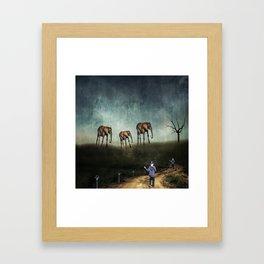 Wait for Us Framed Art Print