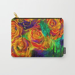 Vibrant Orange Flowers Carry-All Pouch