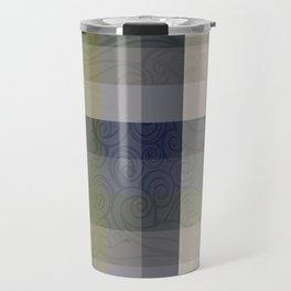 Chambray Fiord Swirly Plaid Travel Mug