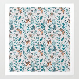 Insects and Moths Frolicking in the Day Art Print