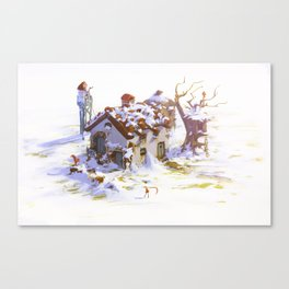 Anya's House - Winter Canvas Print