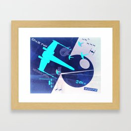 Beat The Empire With A Red Squadron (Vintage Edition) Framed Art Print