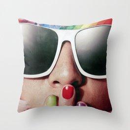 Carnaval girl Throw Pillow