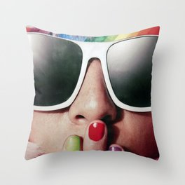 Carnaval girl Throw Pillow