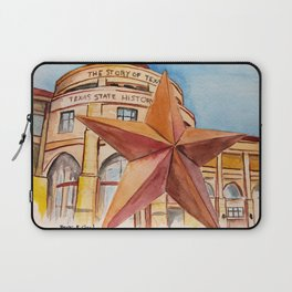 The Bullock Texas State History Museum Watercolor Laptop Sleeve