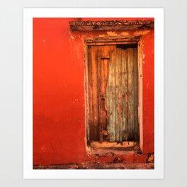Doors of Tlacotalpan: Warm Art Print