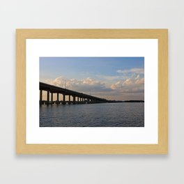 Under the Caloosahatchee Bridge Framed Art Print