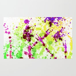 Lime Time - Abstract Splatter Style Rug