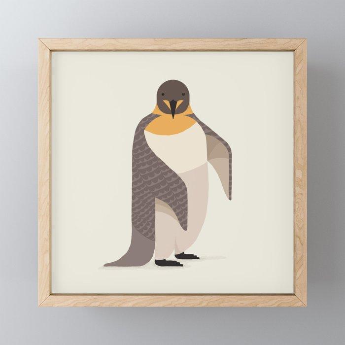 Whimsical Emperor Penguin Framed Mini Art Print