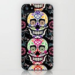 Happy calaveras iPhone Case