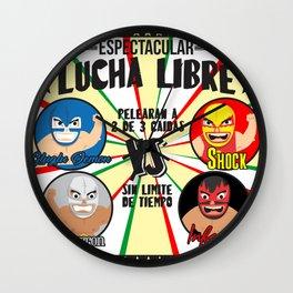 cartel de lucha libre Wall Clock