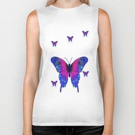Butterfly Phone Pouch Design Purple Biker Tank
