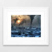 industrial Framed Art Prints featuring Industrial by Abramskama