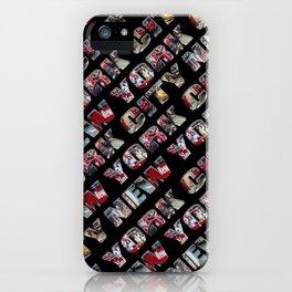 New York City (typography diagonal) iPhone Case