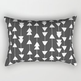 Arrowhead - Black Rectangular Pillow