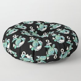 Sea Turtle Anchor Floor Pillow