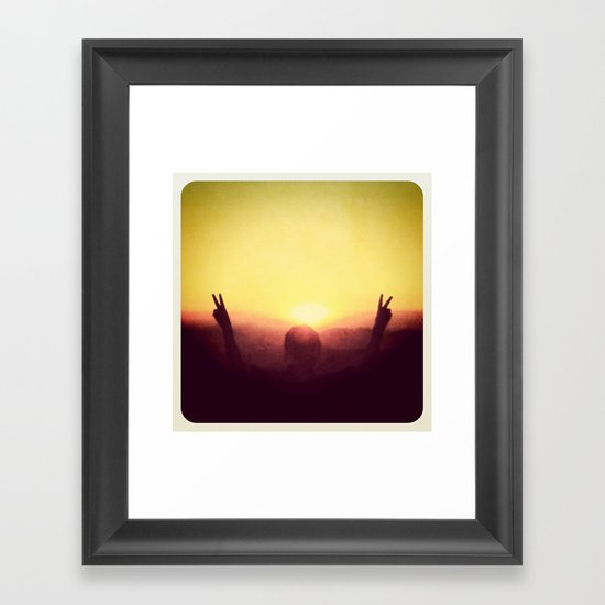 Peace Out Framed Art Print
