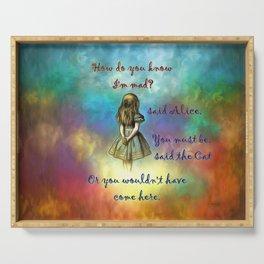 Wonderland Time - Alice In Wonderland Quote Serving Tray