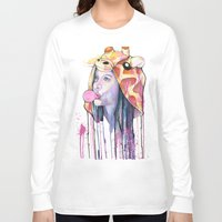 bubblegum Long Sleeve T-shirts featuring Bubblegum by Mia Hawk