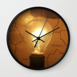 Let There Be Light - I Wall Clock