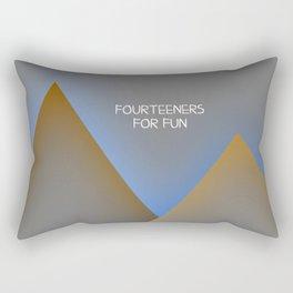 fourteeners for fun Rectangular Pillow