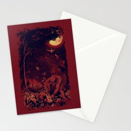 Night at the Origami Garden Stationery Cards