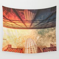 building Wall Tapestries featuring New York City Chrysler Building by Vivienne Gucwa