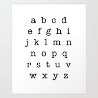 Type Alphabet Lowercase Sign Art Print