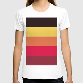 Strong summer colours geometric vertical lines pattern for home decoration T-shirt