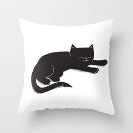 Happy Kitty Throw Pillow