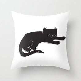 Happy Kitty Throw Pillow