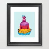 Cupcake Santa Claus Framed Art Print