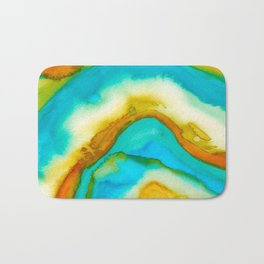 AGATE Inspired Watercolor Abstract 10 Bath Mat